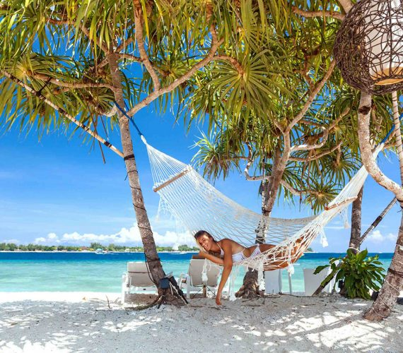 Relaxing or Chilin on The Beach